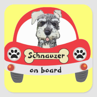 Schnauzer on Board Stickers