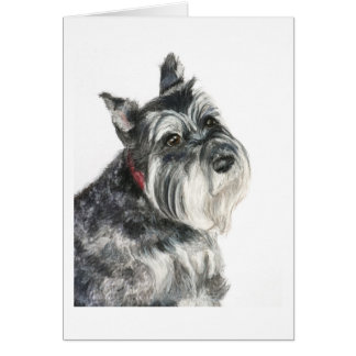 Schnauzer Painting Card