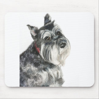 Schnauzer Painting Mouse Pads