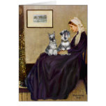 Schnauzer Pair 3 - Whistlers Mother Greeting Card