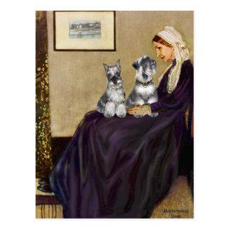Schnauzer Pair 3 - Whistlers Mother Postcard