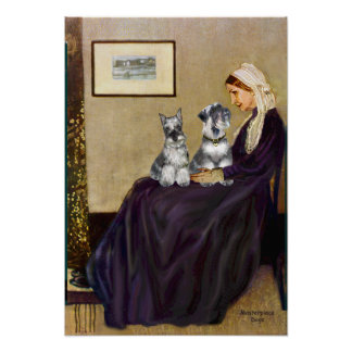 Schnauzer Pair 3 - Whistlers Mother Print