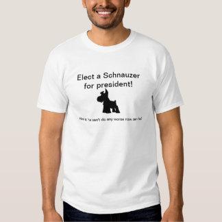 Schnauzer para el presidente poleras