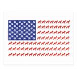 Schnauzer patriótico dog/USA Postal