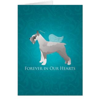 Schnauzer Pet Memorial Design Card