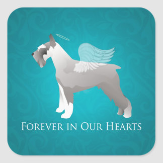Schnauzer Pet Memorial Design Square Sticker