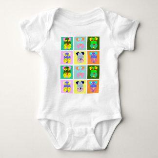 Schnauzer Pop Art Baby Bodysuit