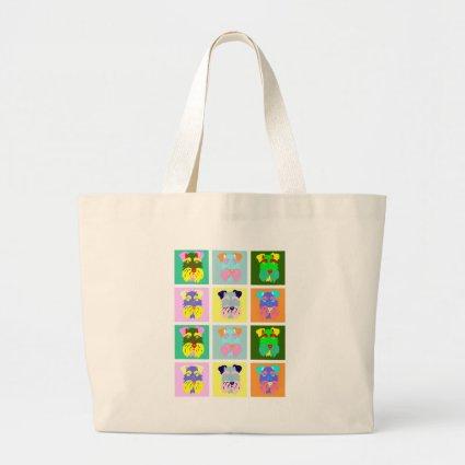 Schnauzer Pop Art Jumbo Tote Bag