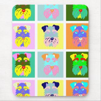 Schnauzer Pop Art Mouse Pads