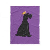 Schnauzer Prince Fleece Blanket