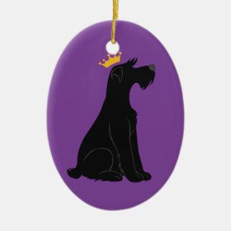 Schnauzer Prince Christmas Tree Ornament