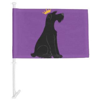 Schnauzer Prince Car Flag