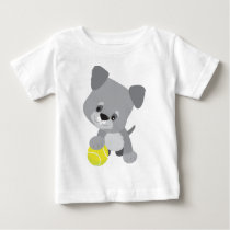Schnauzer Puppy and Ball Baby T-Shirt
