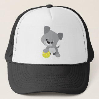 Schnauzer Puppy and Ball Trucker Hat