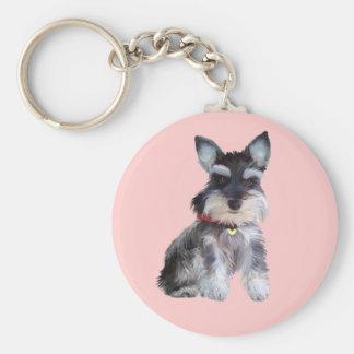 Schnauzer Puppy (Z1) Key Chains