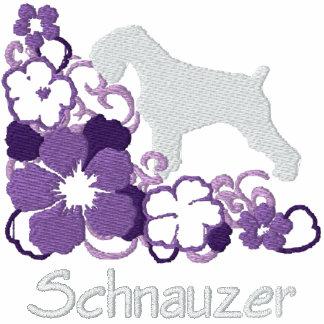 Schnauzer púrpura del hibisco