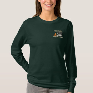Schnauzer Rally Obedience Embroidered Long Sleeve T-Shirt