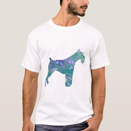 Schnauzer et rose standard Unisexe T-Shirt