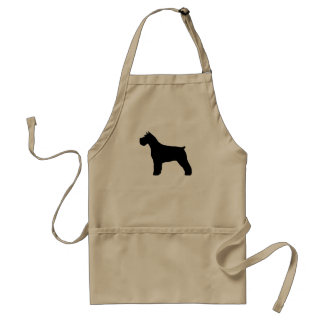 Schnauzer Silhouette Aprons