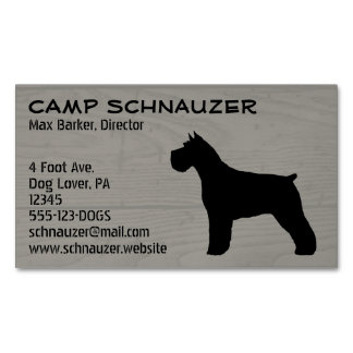 Schnauzer Silhouette Business Card Magnet