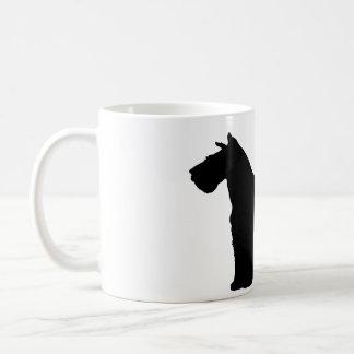 schnauzer silhouette coffee mug