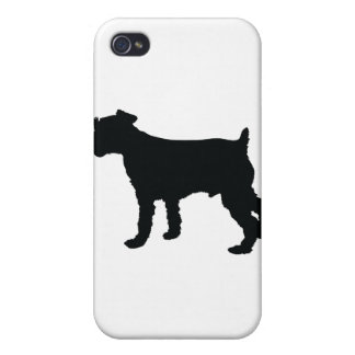 Schnauzer Silhouette Covers For iPhone 4