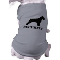 Schnauzer Silhouette (Cropped Ears) with Text Shirt