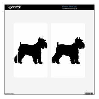 Schnauzer Silhouette Kindle Fire Decal