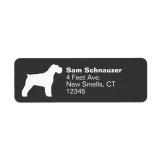 Schnauzer Silhouette (Natural Ears) Label