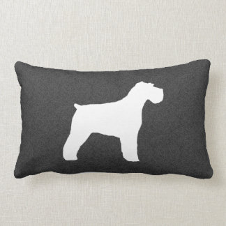 Schnauzer Silhouette (Natural Ears) Pillow