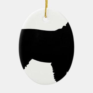 Schnauzer Silhouette Ornaments