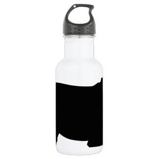 Schnauzer Silhouette Stainless Steel Water Bottle