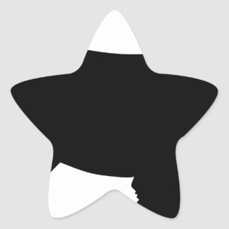 Schnauzer Silhouette Star Sticker