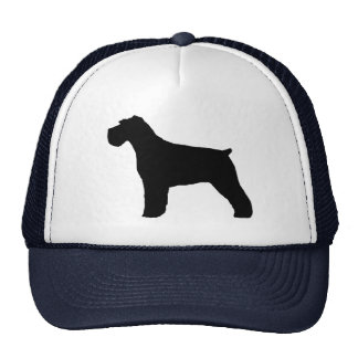 Schnauzer Silhouette with Natural Ears Trucker Hat