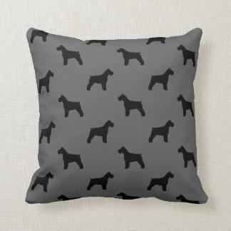 Schnauzer Silhouettes Pattern Pillow