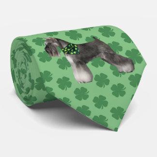 Schnauzer St. Patrick's Day Tie
