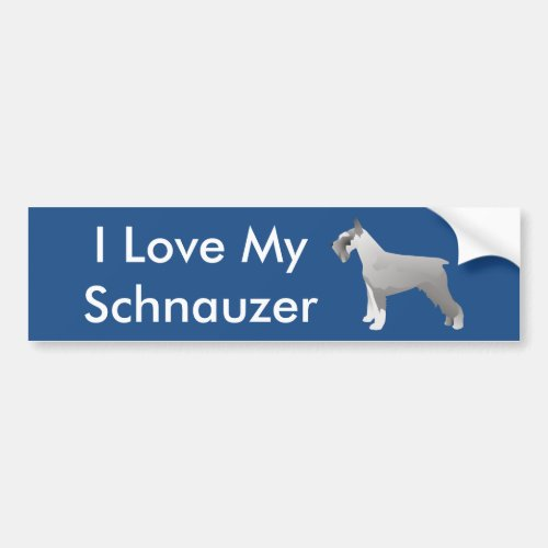 Schnauzer Templates ready to Customize Bumper Sticker