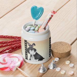 Schnauzer Terrier treat jar Candy Dishes