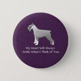 Schnauzer Thinking of You Design Button