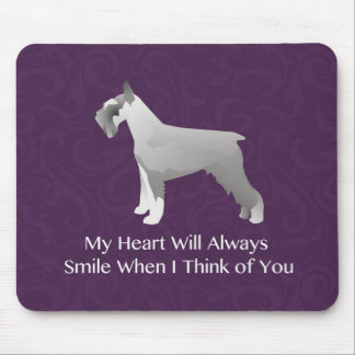 Schnauzer Thinking of You Design Mouse Pad