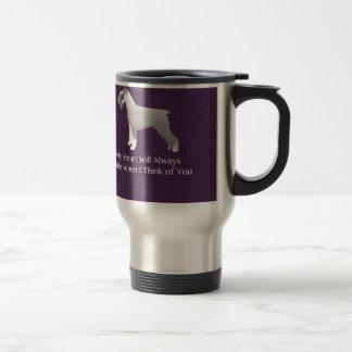 Schnauzer Thinking of You Design Travel Mug