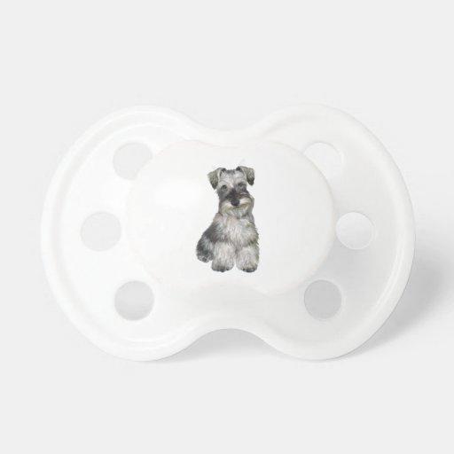 Schnauzer (v) - (oídos naturales) chupete de bebe