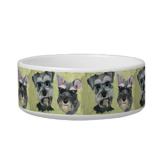 Schnauzer Water and Food Bowl