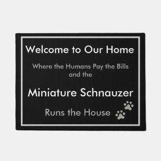Schnauzer Welcome Doormat