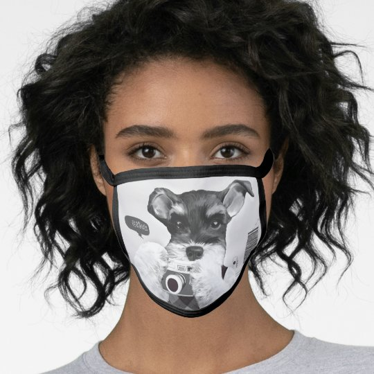 Schnauzer with Camera Face Mask