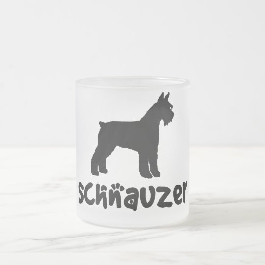 Schnauzer With Cool Text Frosted Glass Coffee Mug