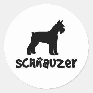 Schnauzer With Cool Text Round Sticker