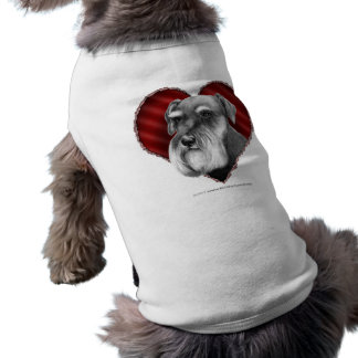 Schnauzer with Heart Pet Clothes