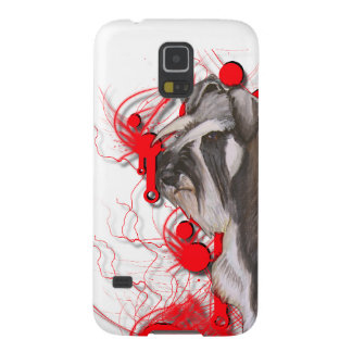 Schnauzer with Red Circles Case For Galaxy S5
