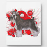 Schnauzer with Red Circles Plaque